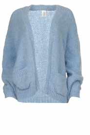 Knit-ted |  Alpaca cardigan Bernelle | blue  | Picture 1