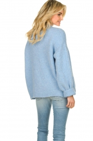 Knit-ted |  Alpaca cardigan Bernelle | blue  | Picture 6