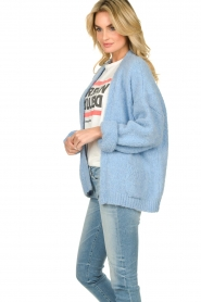 Knit-ted |  Alpaca cardigan Bernelle | blue  | Picture 5