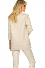 Knit-ted |  Cotton blazer with open pockets Adriana | beige  | Picture 5