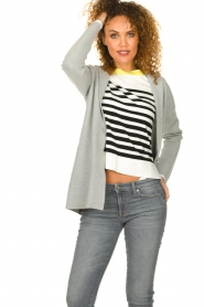Knit-ted    Cardigan with open pockets Adriana   grey    Picture 4