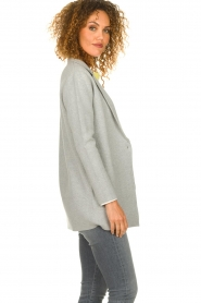 Knit-ted |  Cardigan with open pockets Adriana | grey  | Picture 5