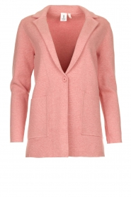 Knit-ted |  Long blazer cardigan Adrianna | pink  | Picture 1