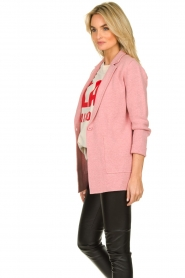 Knit-ted |  Long blazer cardigan Adrianna | pink  | Picture 5