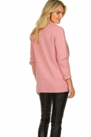 Knit-ted |  Long blazer cardigan Adrianna | pink  | Picture 6