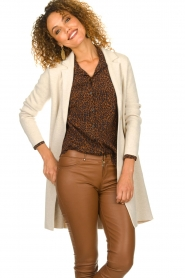 Knit-ted |  Long cardigan Sammie | beige  | Picture 2