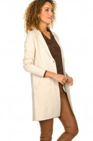 Knit-ted |  Long cardigan Sammie | beige  | Picture 4