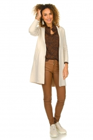 Knit-ted |  Long cardigan Sammie | beige  | Picture 3