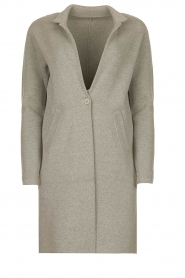 Knit-ted |  Long blazer cardigan Sammie | grey  | Picture 1