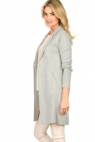 Knit-ted |  Long blazer cardigan Sammie | grey  | Picture 5