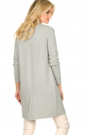 Knit-ted |  Long blazer cardigan Sammie | grey  | Picture 6