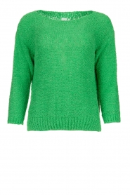 Knit-ted |  Loose knit sweater Pleun |  green