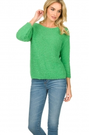 Knit-ted |  Loose knit sweater Pleun |  green  | Picture 4