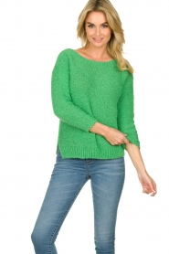 Knit-ted |  Loose knit sweater Pleun |  green  | Picture 2