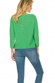 Knit-ted |  Loose knit sweater Pleun |  green  | Picture 6