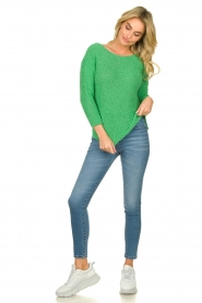 Knit-ted |  Loose knit sweater Pleun |  green  | Picture 3