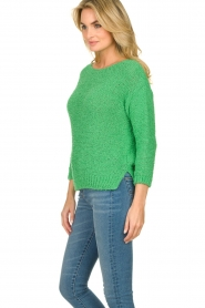 Knit-ted |  Loose knit sweater Pleun |  green  | Picture 5