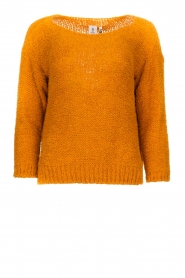 Knit-ted |  Knitted sweater Pleun | orange  | Picture 1