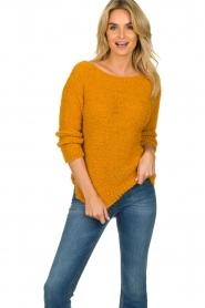 Knit-ted | Losgebeide trui Pleum | oranje  | Afbeelding 2
