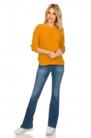 Knit-ted | Losgebeide trui Pleum | oranje  | Afbeelding 3