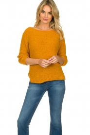 Knit-ted |  Knitted sweater Pleun | orange  | Picture 4