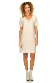 Knit-ted |  Lightweight knitted dress Robin | beige   | Picture 3