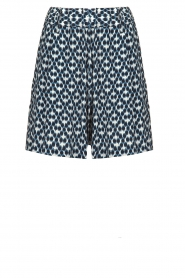 Knit-ted |  Shorts with print Roline | blue  | Picture 1
