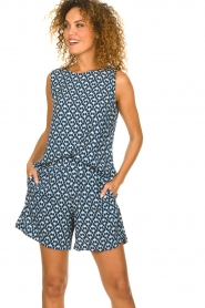 Knit-ted |  Shorts with print Roline | blue  | Picture 4