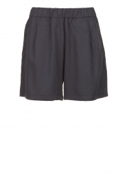 Knit-ted |  Tencell shorts Keesje | dark blue  | Picture 1