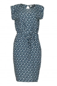 Knit-ted |  Blue printed dress Daisey | blue  | Picture 1