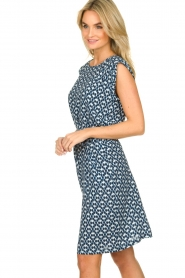 Knit-ted |  Blue printed dress Daisey | blue  | Picture 5
