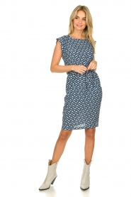 Knit-ted |  Blue printed dress Daisey | blue  | Picture 3