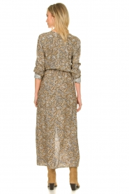 Knit-ted |  Printed maxi dress Riley | brown   | Picture 5