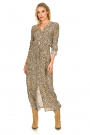Knit-ted |  Printed maxi dress Riley | brown   | Picture 6