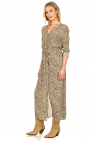 Knit-ted |  Printed maxi dress Riley | brown   | Picture 4