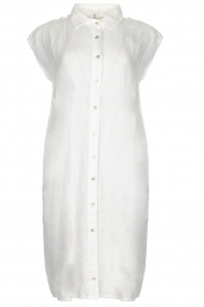 Knit-ted |  Linen dress Kristel | white  | Picture 1