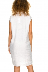 Knit-ted |  Linen dress Kristel | white  | Picture 5