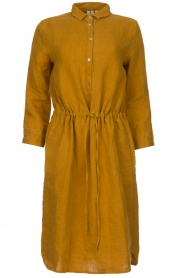 Knit-ted |  Linen dress Katja | gold  | Picture 1