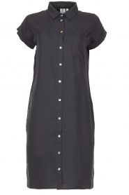Knit-ted |  Button-down dress Marit | blue  | Picture 1