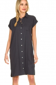 Knit-ted |  Button-down dress Marit | blue  | Picture 5