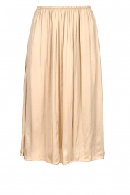 Knit-ted    Folded skirt    beige    Picture 1