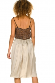 Knit-ted |  Folded skirt Kae | beige  | Picture 5