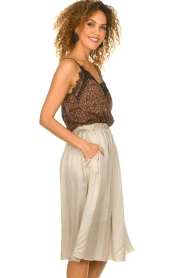Knit-ted |  Folded skirt Kae | beige  | Picture 4