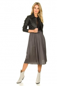 Knit-ted |  Folded skirt Kae | grey  | Picture 3