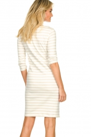 Knit-ted |  Striped dress Mylena | beige  | Picture 7