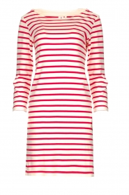 Knit-ted |  Striped dress Mylena | pink  | Picture 1