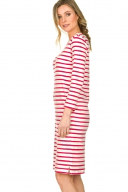 Knit-ted |  Striped dress Mylena | pink  | Picture 5