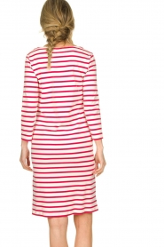 Knit-ted |  Striped dress Mylena | pink  | Picture 6