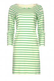 Knit-ted |  Striped dress Mylena | green  | Picture 1