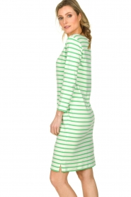 Knit-ted |  Striped dress Mylena | green  | Picture 4